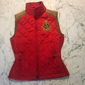 Ralph Lauren Equastrian Quilted Sleeveless Jacket